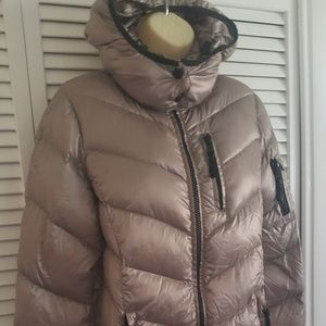 Andrew Marc Small Down Jacket Packable Light Hood